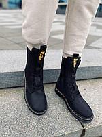 Кожаные зимние ботинки мужские Dr. Martens, зимние мужские ботинки кожаные