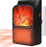 Портативный обогреватель с пультом Flame Heater (500 Вт) Экономный, фото 2