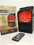 Портативный обогреватель с пультом Flame Heater (500 Вт) Экономный, фото 3
