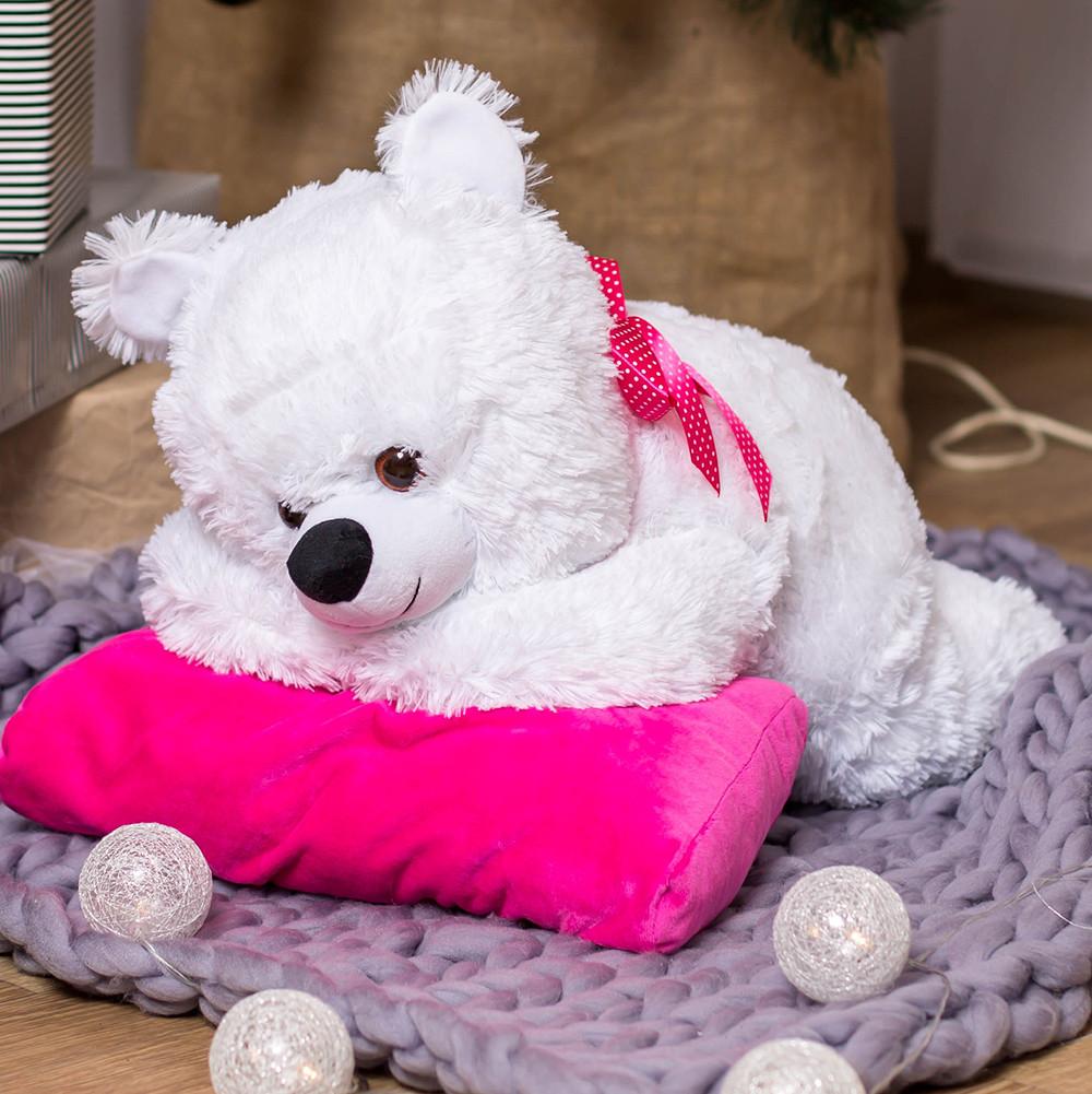Плюшевый мишка Соня на подушке, 70 см