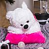 Плюшевый мишка Соня на подушке, 70 см, фото 3