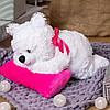 Плюшевый мишка Соня на подушке, 70 см, фото 2