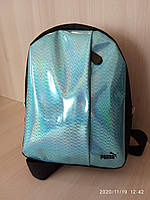 Рюкзак женский голографический голубой, фото 1