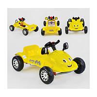 Детский веломобиль Pilsan Herby 07-302 от 3 лет машина педальная с клаксоном Желтый