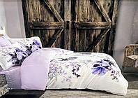 Комплект постельного белья Maison D'or Alita Blue сатин 220-200 см белый
