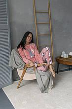 Махровая турецкая пижама для сна женская  повязка в подарок