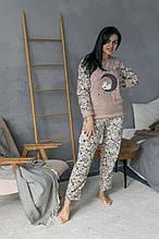 Турецкая флисовая пижама для сна очень теплая  с овечками