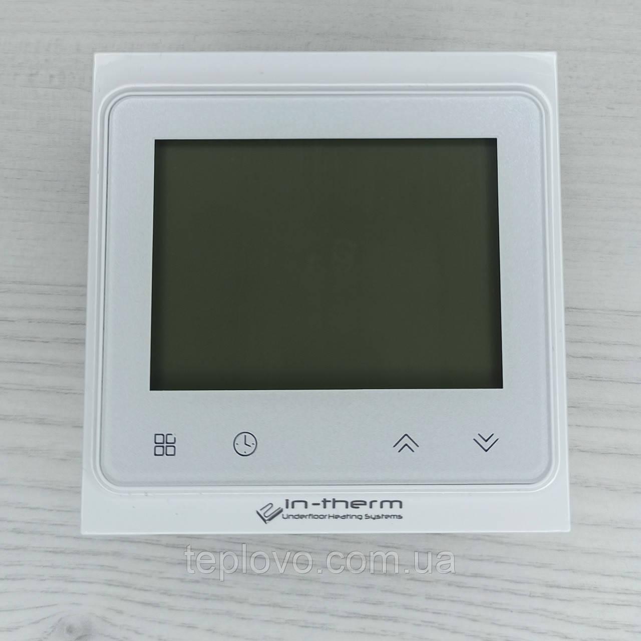Терморегулятор программируемый IN-THERM PWT 002 Wi-Fi White, программатор для теплого пола