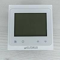 Терморегулятор программируемый IN-THERM PWT 002 Wi-Fi (белый), сенсорный программатор для теплого пола
