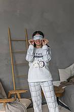 Махровая женская пижама для сна турецкая повязка для сна в подарок