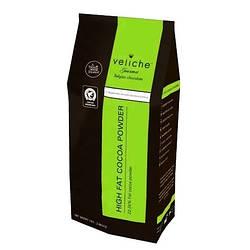 Какао порошок алкалізований, ж.22-24%, 1кг. Бельгія Veliche (Фабрична упаковка)