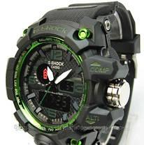 Годинники наручні чорні Casio G-Shock GWG-1000 Black-Green / касіо джишок чорні з зеленим, фото 3