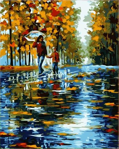 Картина по номерам В парке в кор. 40*50см, Dreamtoys код: DT-1674