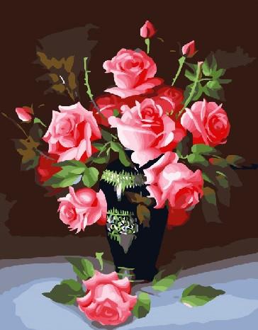Картина по номерам Букет для любимой в коробке 40*50см Dreamtoys код: DT-174