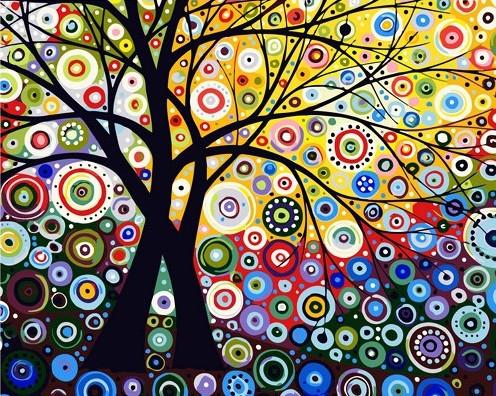 Картина по номерам Калейдоскоп красок в кор. 40*50см, Dreamtoys код: DT-1937