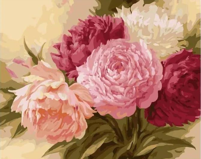 Картина по номерам Прекрасные пионы в кор. 40*50см, Dreamtoys код: DT-1990
