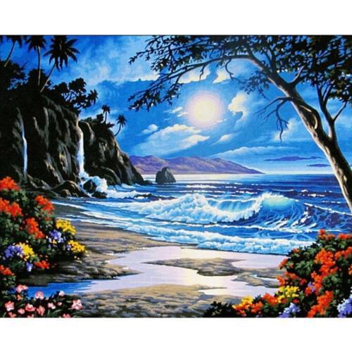 Картина по номерам Таинственный остров 40*50см, в коробке Dreamtoys код: DT-214