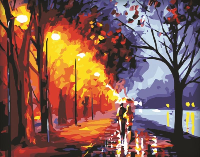 Картина по номерам Романтика осени 40*50см, в коробке Dreamtoys код: DT-234