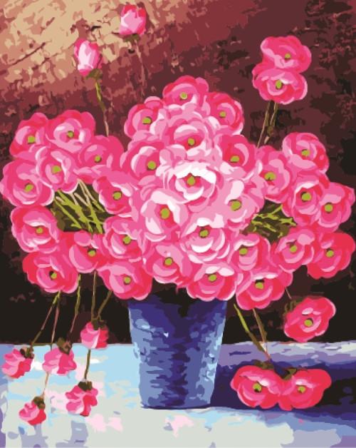 Картина по номерам Розовое настроение 40*50см, в коробке Dreamtoys код: DT-316