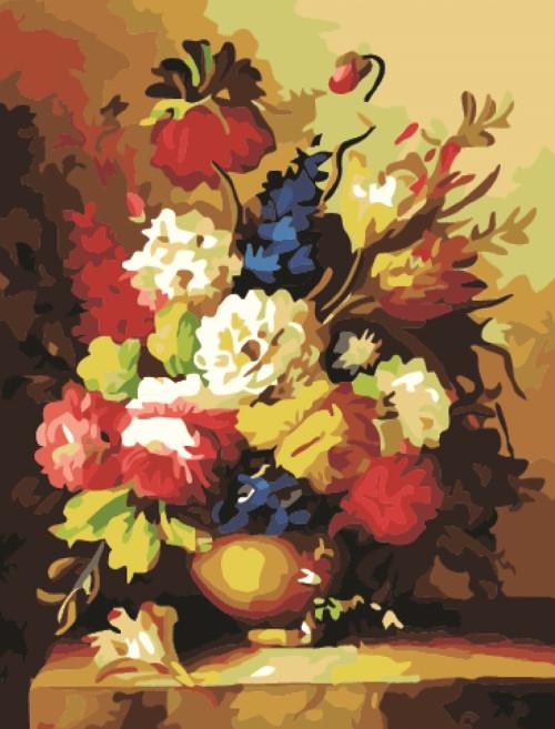 Картина по номерам Богатство цветов 40*50см, в коробке Dreamtoys код: DT-317