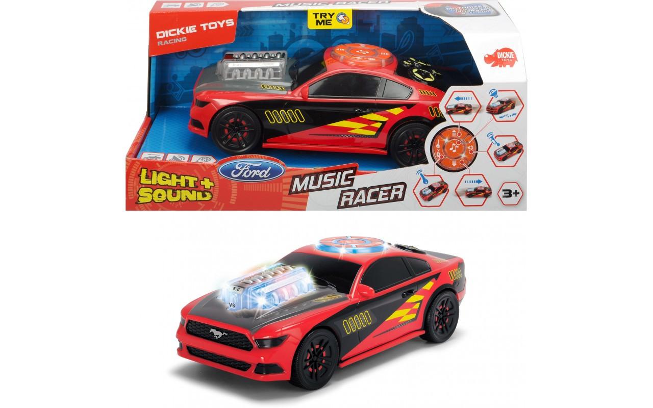 Скоростной автомобиль Dickie Toys Музыкальный рейсер со светом и звуком 20 см Dickie Toys Music Racer 3764003