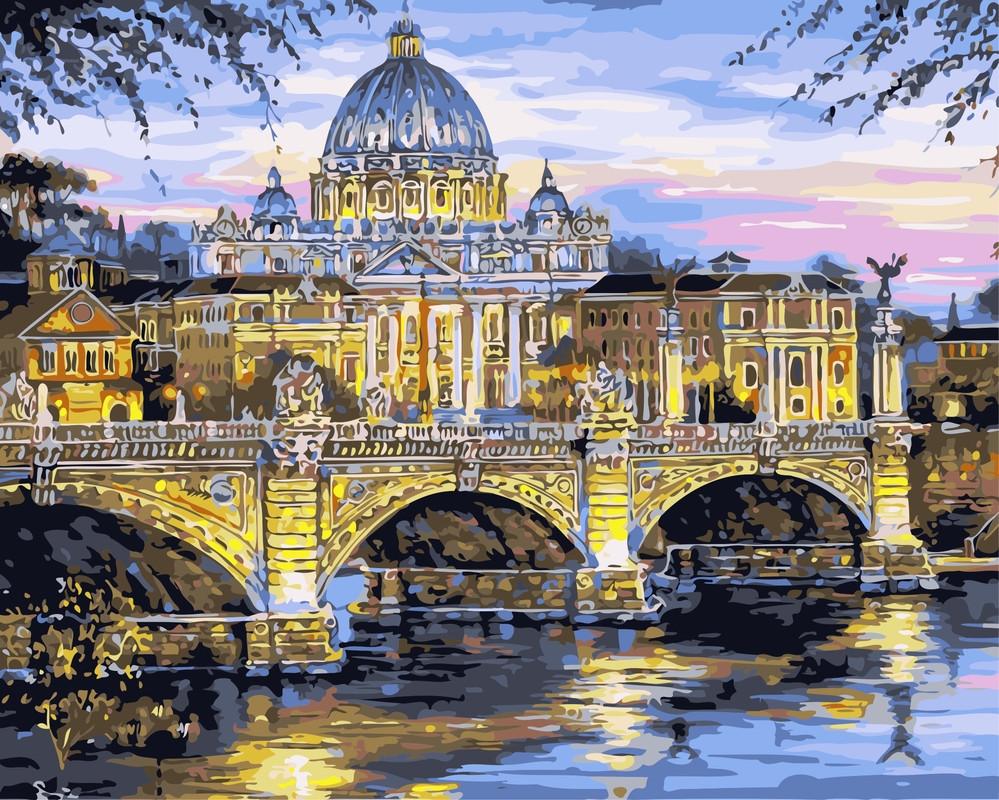 Картина по номерам Рим. Собор Святого Петра» 40*50см, в коробке Dreamtoys код: DT-451