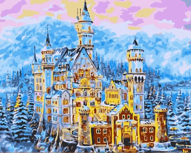 Картина по номерам Сказочный замок» 40*50см, в коробке Dreamtoys код: DT-452