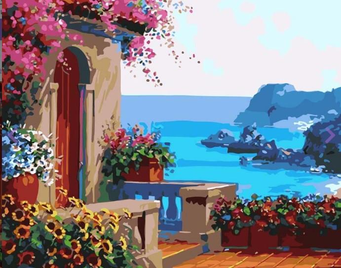 Картина по номерам Скалистый берег» 40*50см, в коробке Dreamtoys код: DT-464