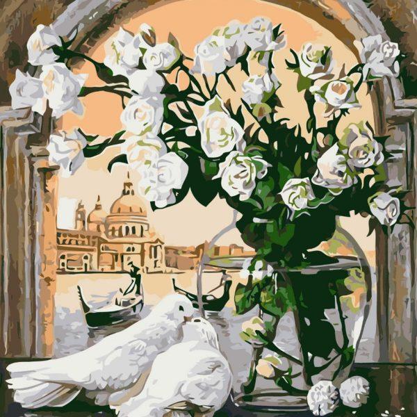 Картина по номерам Этюд в белых тонах» 40*50см, в коробке Dreamtoys код: DT-486
