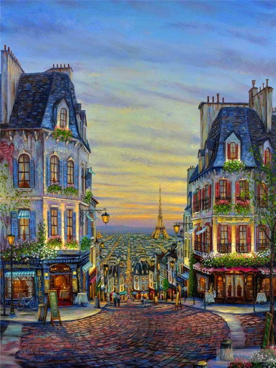 Картина по номерам Вечерний Париж» 40*50см, в коробке Dreamtoys код: DT-501