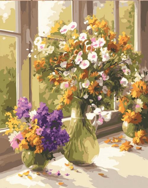 Картина по номерам Полевые цветы» 40*50см, в коробке Dreamtoys код: DT-508