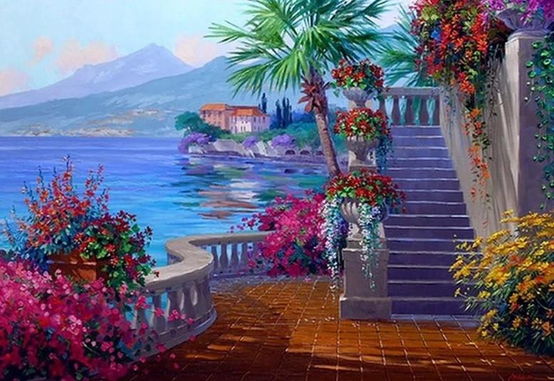 Картина по номерам Вилла у моря» 40*50см, в коробке Dreamtoys код: DT-521
