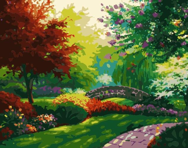 Картина по номерам Аллеями парка» 40*50см, в коробке Dreamtoys код: DT-522