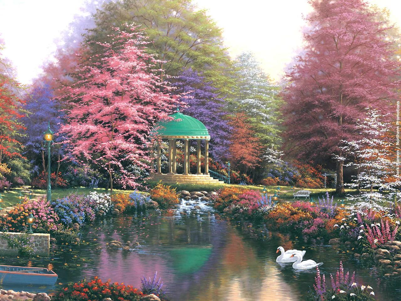 Картина по номерам Ротонда в саду» 40*50см, в коробке ТМ Dreamtoys код: DT-538