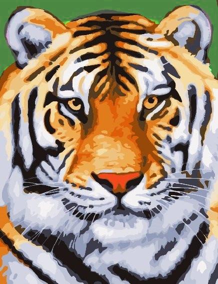 Картина по номерам Бенгалький тигр» 40*50см, в коробке ТМ Dreamtoys код: DT-552