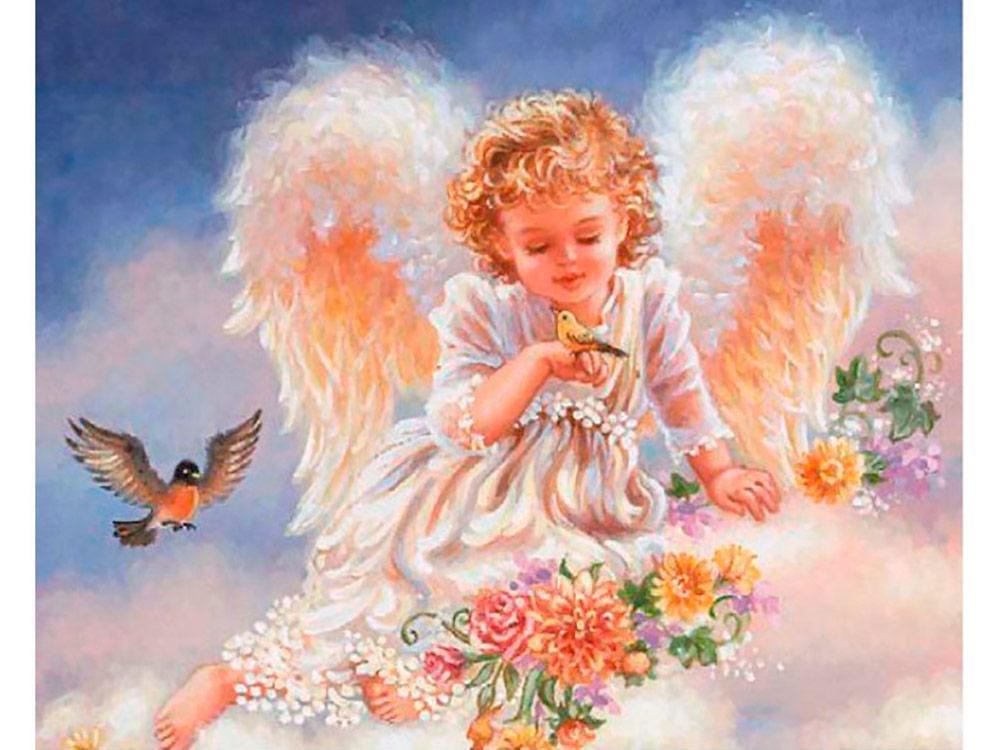 Картина по номерам Прикосновение ангела» 40*50см, в коробке ТМ Dreamtoys код: DT-573