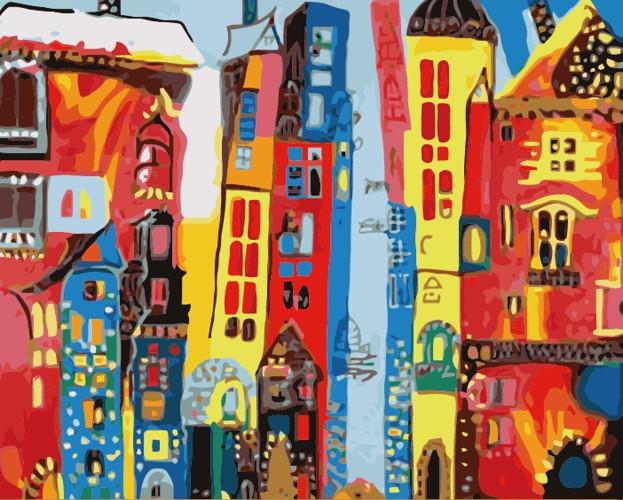 Картина по номерам Причудливый город» 40*50см, в коробке ТМ Dreamtoys код: DT-613