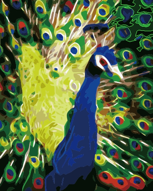 Картина по номерам Роскошный хвост» 40*50см, в коробке ТМ Dreamtoys код: DT-617
