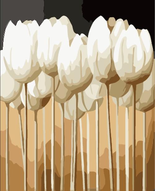 Картина по номерам Белые тюльпаны» 40*50см, в коробке ТМ Dreamtoys код: DT-627