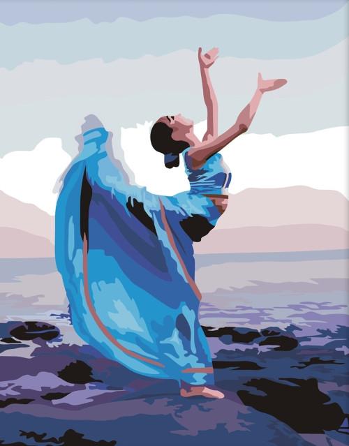 Картина по номерам Танцовщица» 40*50см, в коробке ТМ Dreamtoys код: DT-643