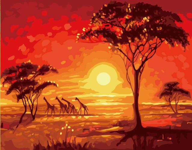 Картина по номерам Дикая саванна» 40*50см, в коробке Dreamtoys код: DT-663