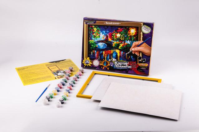 Картина по номерам, большая, в кор. 35*25*3см (10шт) Danko Toys код: KN-01-06