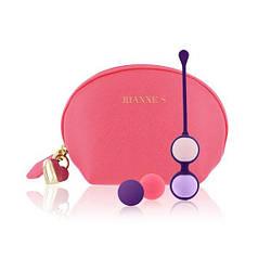 Набір вагінальних кульок Rianne S: Pussy Playballs Coral, вага 15г, 25г, 35г, 55г, монолітні