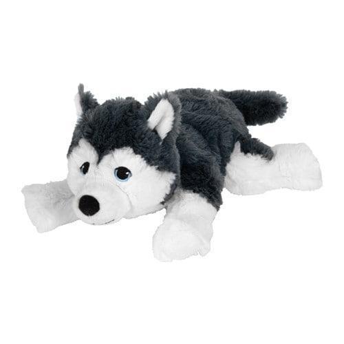 IKEA ЛИВЛИГ Мягкая игрушка, собака, сибирский хаски, 26 см, (904.142.70)