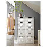 IKEA ALEX (501.928.22) Комод, 9 ящиков, белый, фото 5
