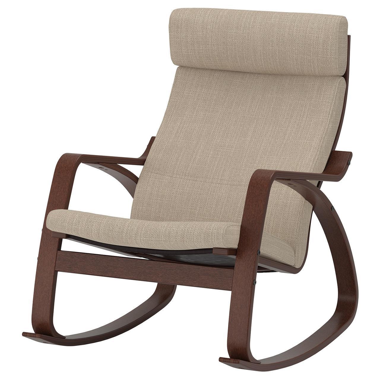 IKEA POANG (291.502.11) Качающийся стул, коричневый,