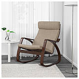 IKEA POANG (291.502.11) Качающийся стул, коричневый,, фото 2