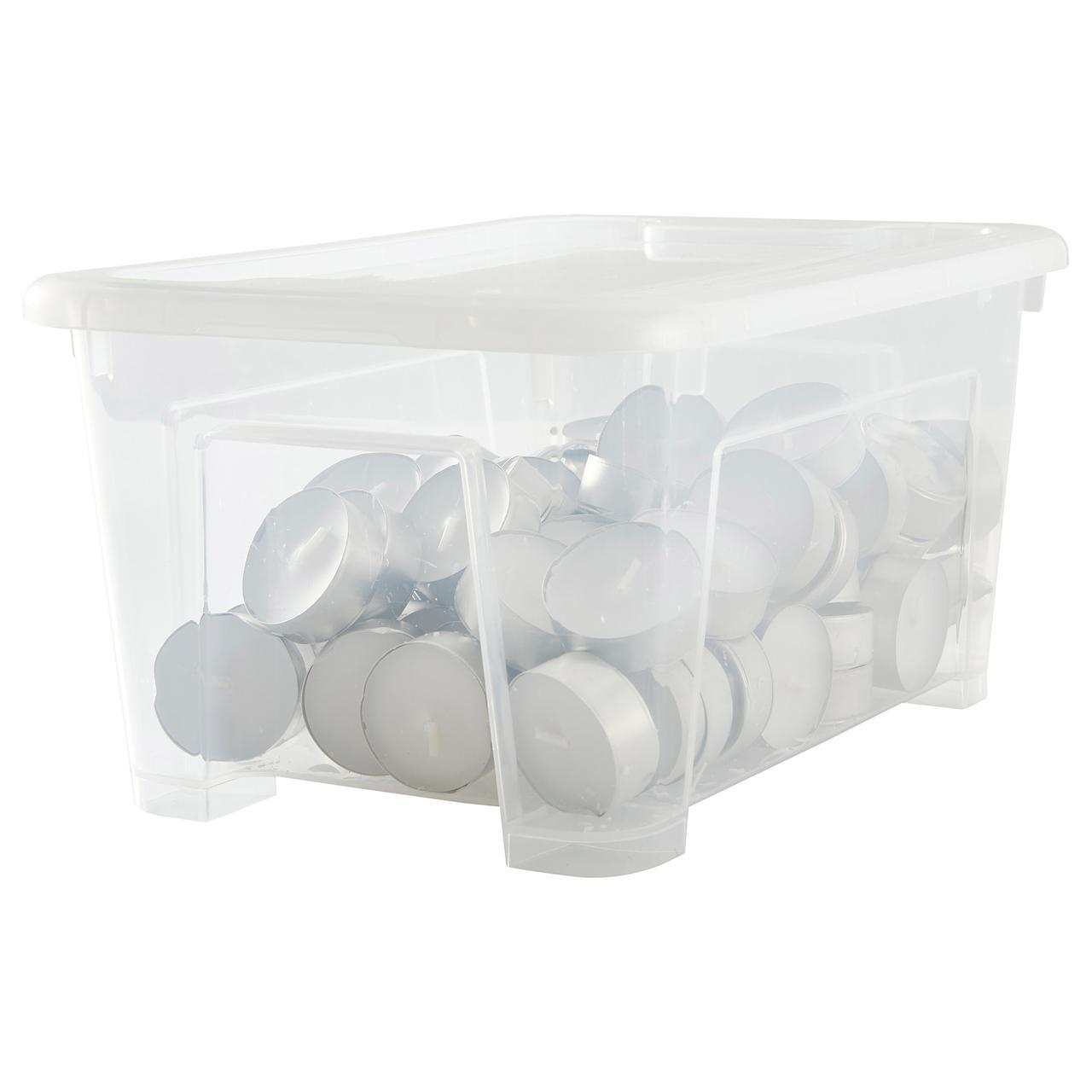 IKEA SAMLA (498.716.76) Коробка с крышкой, прозрачная
