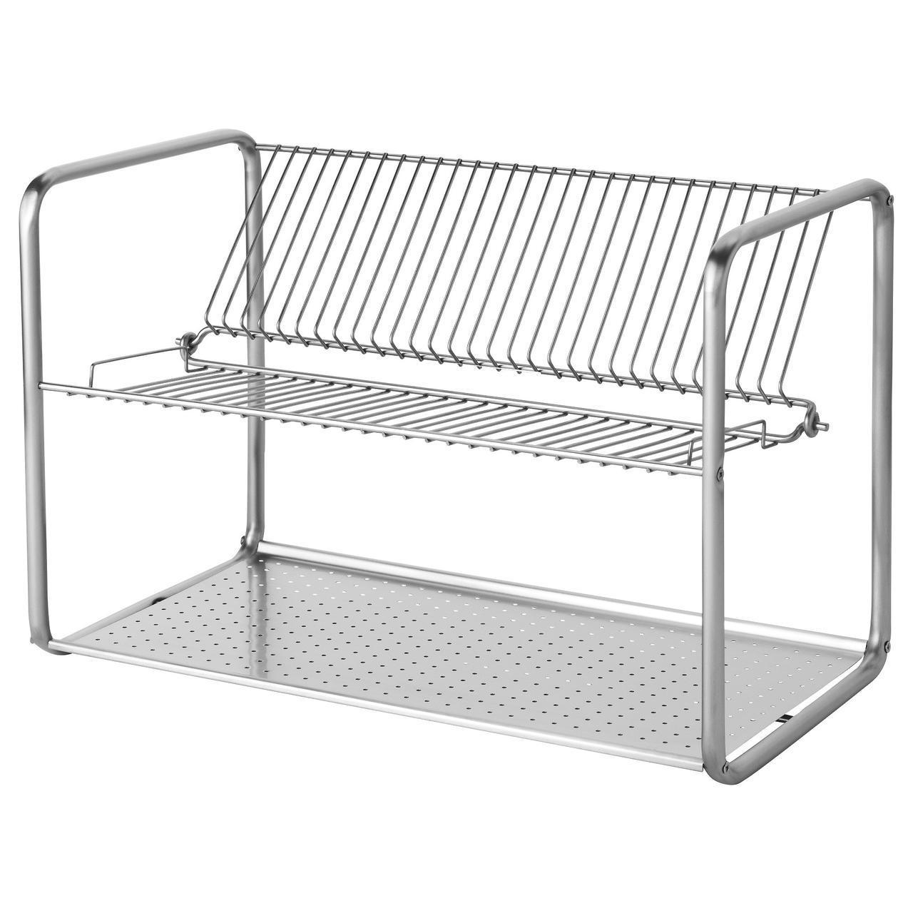 IKEA ORDNING (100.181.94) Сушилка посудная, нержавеющая сталь