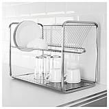 IKEA ORDNING (100.181.94) Сушилка посудная, нержавеющая сталь, фото 2